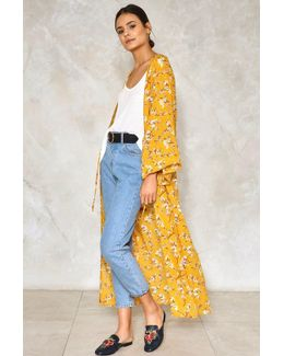 Dance Me To The End Of Love Floral Kimono Dance Me To The End Of Love Floral Kimono
