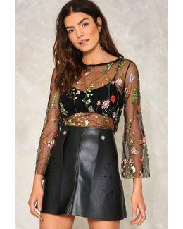 Garden Of Serenity Vegan Leather Skirt Garden Of Serenity Vegan Leather Skirt