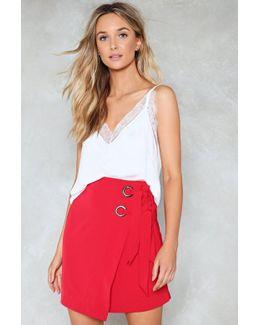 Eyelet Wrap Tie Mini Skirt Eyelet Wrap Tie Mini Skirt