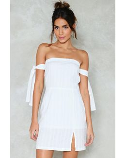Take The Tie Road Off-the-shoulder Dress Take The Tie Road Off-the-shoulder Dress