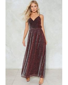 Metallic Maxi Dress Metallic Maxi Dress