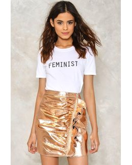 Caught Up Metallic Skirt Caught Up Metallic Skirt