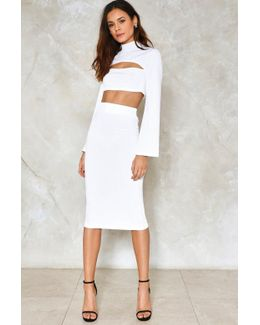 Ribbed Crop & Midi Skirt Set Ribbed Crop & Midi Skirt Set