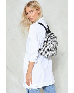 Want Gingham Backpack