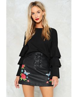 Grow All Out Vegan Leather Skirt Grow All Out Vegan Leather Skirt