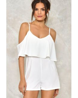 Off The Record Cold Shoulder Romper Off The Record Cold Shoulder Romper