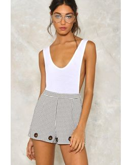 Eyelet The Wind Carry Me High-waisted Shorts Eyelet The Wind Carry Me High-waisted Shorts