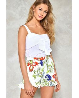 Let It Grow Floral Shorts