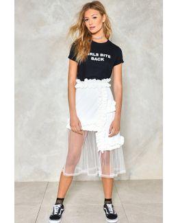Let It Happen Mesh Skirt Let It Happen Mesh Skirt