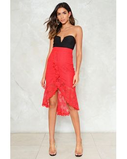 Can't Get Enough Of Your Lace Babe Ruffle Skirt Can't Get Enough Of Your Lace Babe Ruffle Skirt