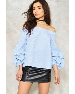 Sleeve It To Me Off-the-shoulder Top Sleeve It To Me Off-the-shoulder Top