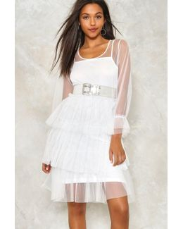 Do I Make Myself Sheer Tiered Dress