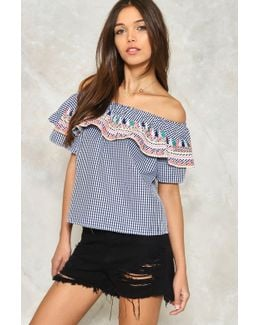 Opposites Attract Off-the-shoulder Top