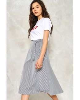 Stuck In The Midi With You Gingham Skirt Stuck In The Midi With You Gingham Skirt