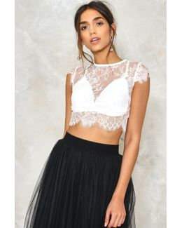 See It Through Lace Crop Top
