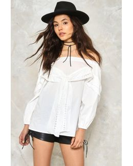 Take A Bow Off-the-shoulder Top
