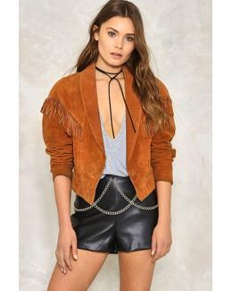 Cross It Off Vegan Leather Short Cross It Off Vegan Leather Short