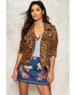 Alice Leopard Moto Jacket Alice Leopard Moto Jacket