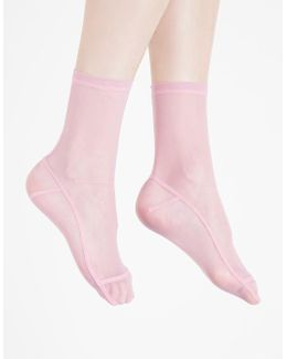 Pink Solid Socks