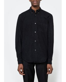 50's Shirt Solid Black Oxford