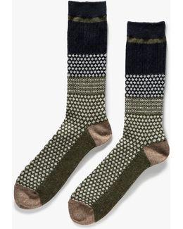 Chestnut Dot Socks - Size One Size