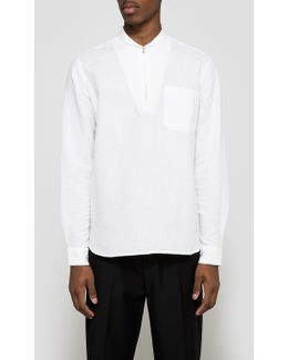 Shawl Zip Shirt White