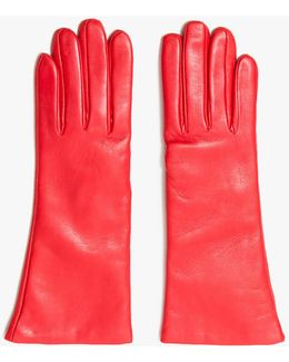 Flowered Glove In Red