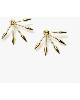5 Spike Earring In Yellow Gold
