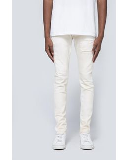 002 Dropped Fit Denim In White Repair