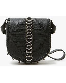 Mini Lia Shoulder Bag In Black