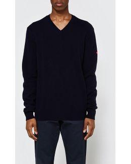 Play V-neck Pullover In Navy