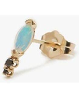Classic Marquis Opal & Diamond Earring