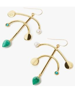 Malachite Mobile Earrings