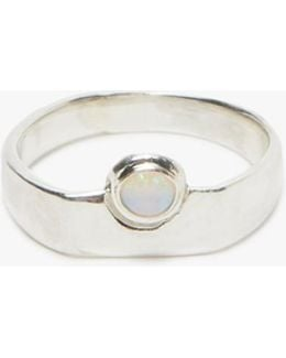 Author Ring In Silver/opal
