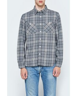 Work Flannel Check Long Sleeve Shirt