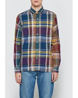 Wide Check Long Sleeve Shirt