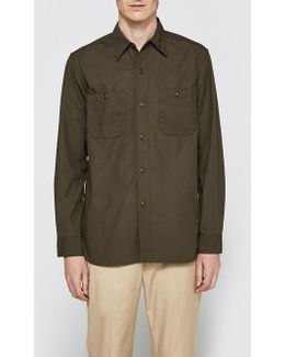 Poplin Usn Long Sleeve Shirt