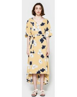Nolita Wrap Dress In Yellow