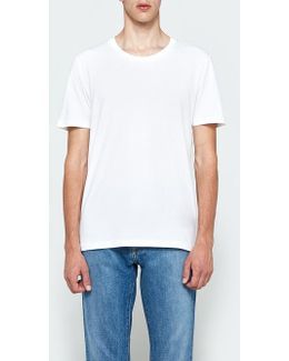Garment Dyed Tee In White