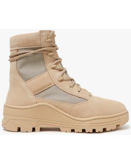 Men's Suede & Mesh Combat Boot