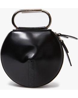 Alix Circle Clutch In Black