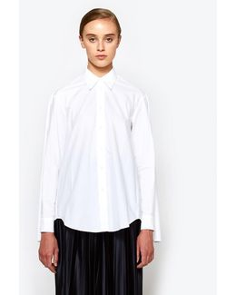 Parachute Poplin Top In White