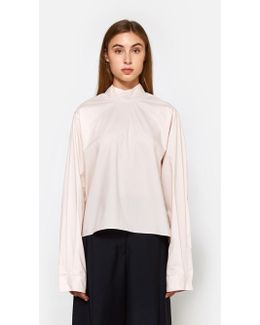 Parachute Poplin Top In Powder