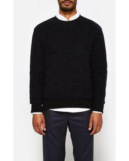 Crew Neck Ls Sweater In Black