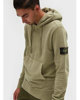 Cotton Fleece Garment Dyed Sweatshirt In Beige