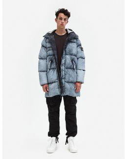 Tela Nylon Down Frost Finish Long Down Jacket