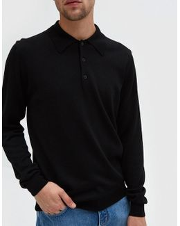 Maxime Knit Polo In Black