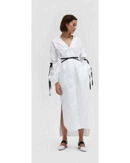 Amarylis Dress In White Poplin