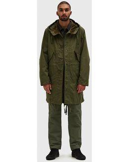 Highland Nyco Ripstop Parka In Olive