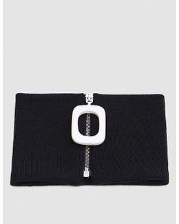 Neckband W/ Zip Detail